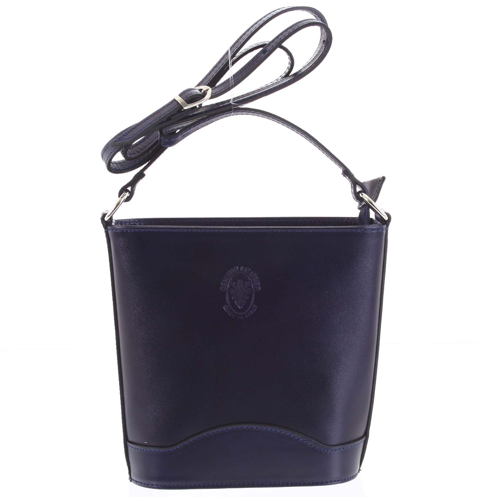 Tmavo modrá kožená crossbody kabelka Italo Bryana tmavo modra