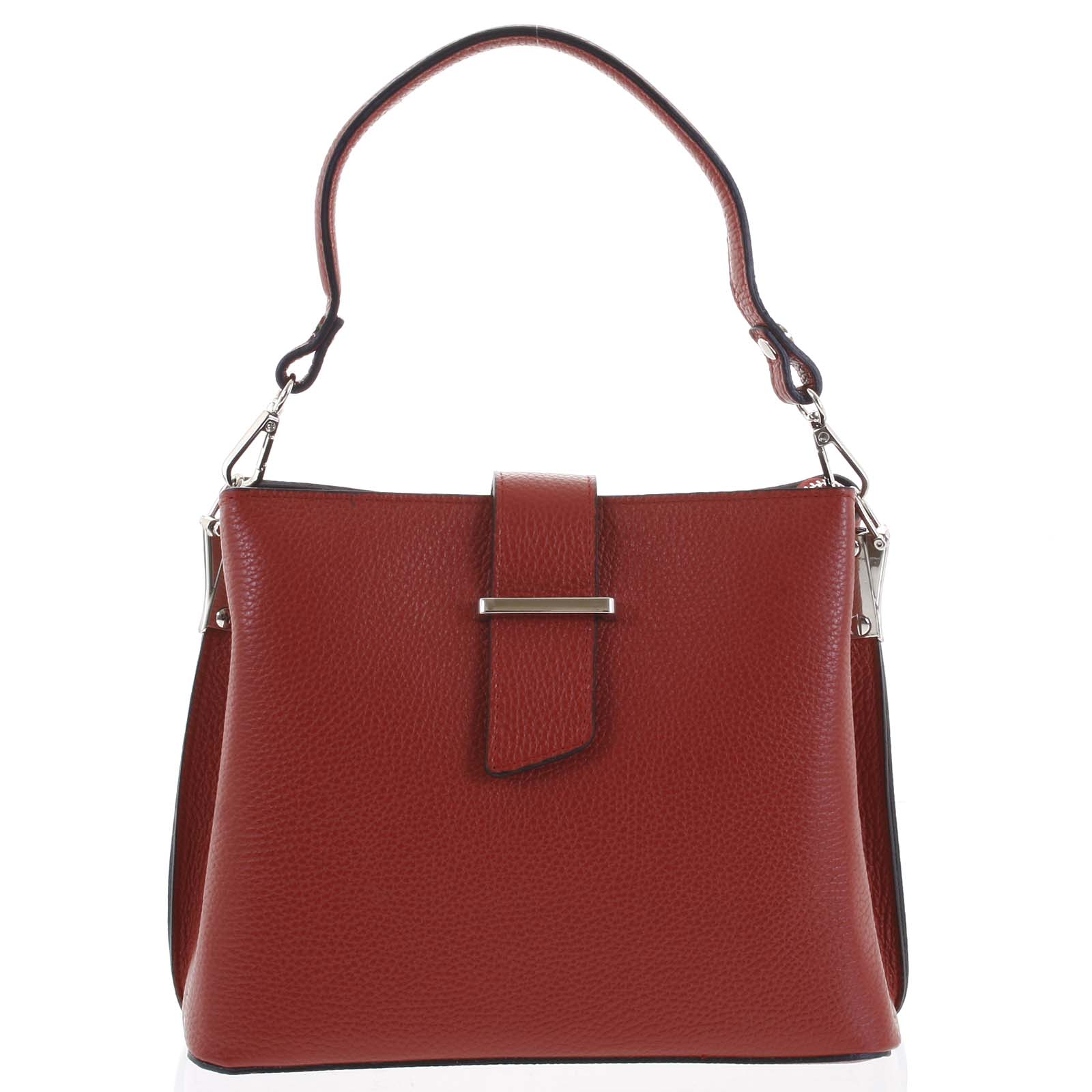 Dámska kožená kabelka do ruky tmavo červená - ItalY Auren červená