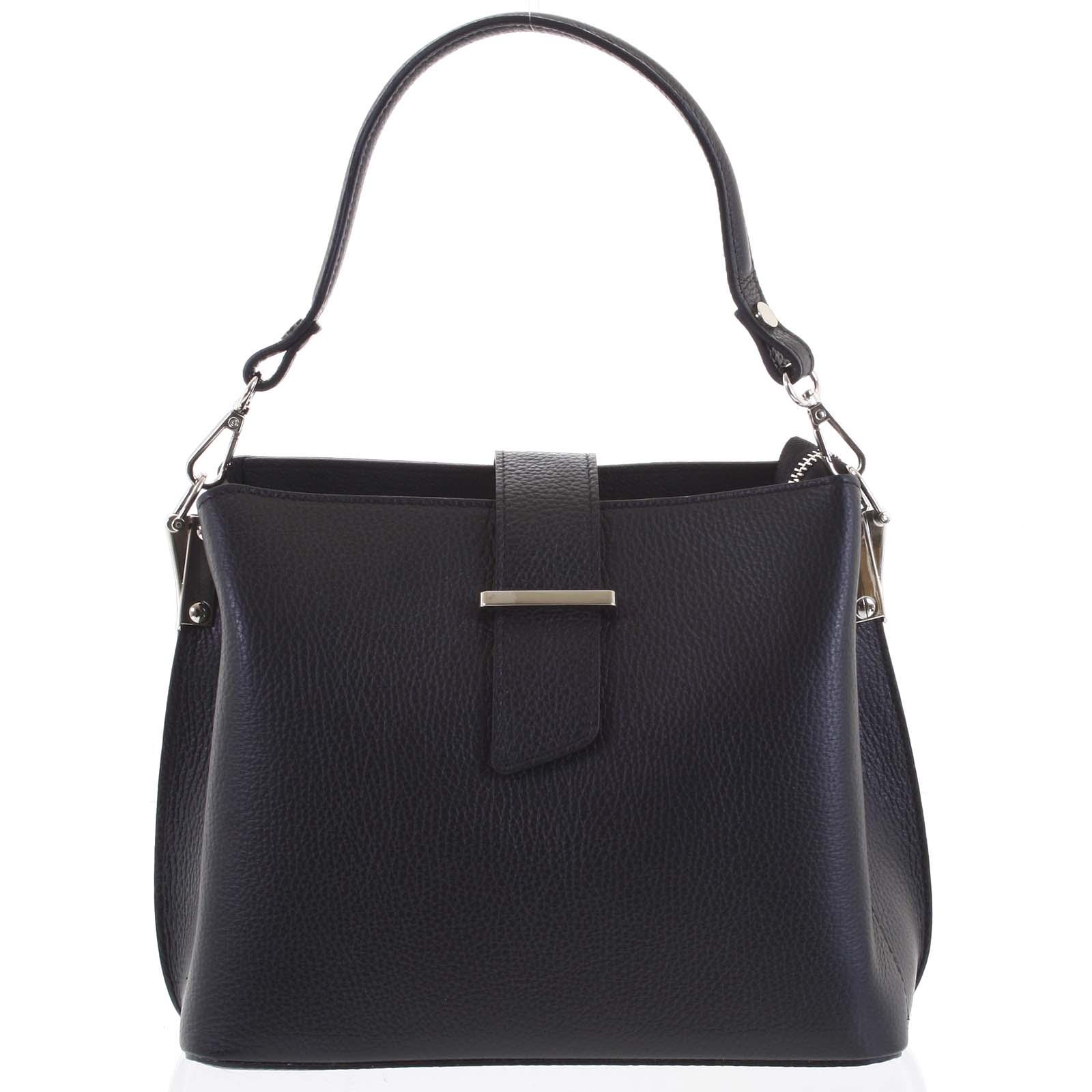 Dámska kožená kabelka do ruky čierna - ItalY Auren čierna