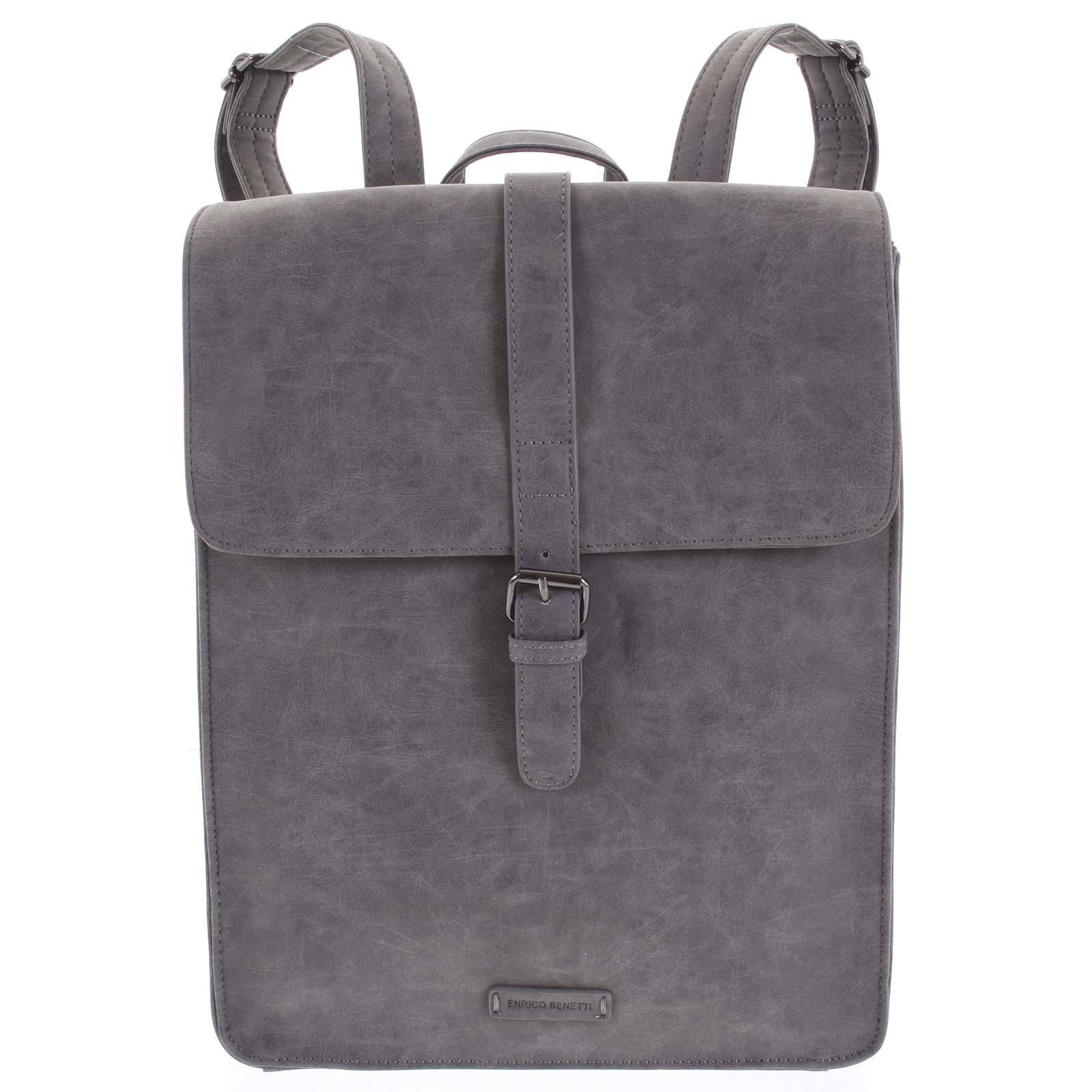 Štýlový batoh sivý - Enrico Benetti Darlo šedá