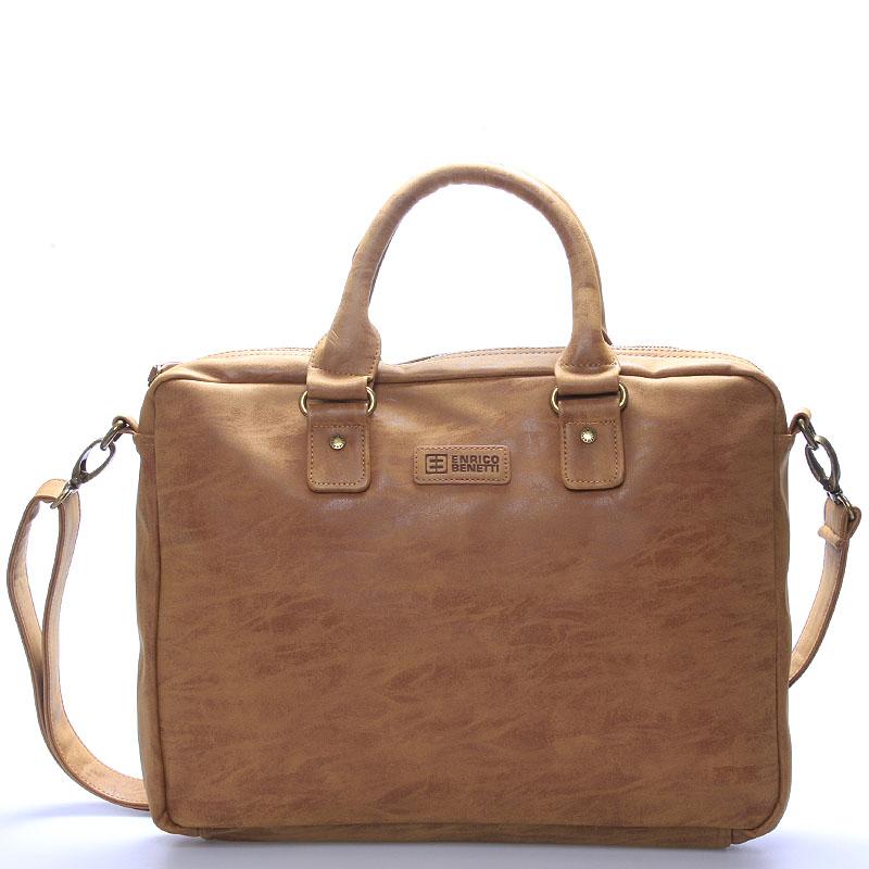Pánska taška cez plece hnedá - Enrico Benetti Raynell hnedá