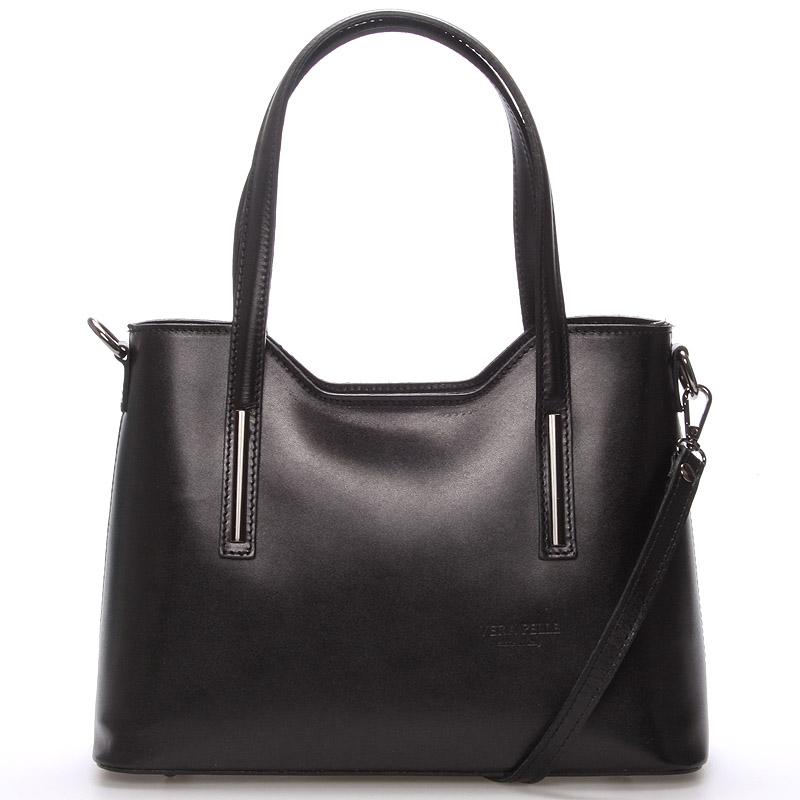 Stredná kožená kabelka čierna - ItalY Chevelle čierna