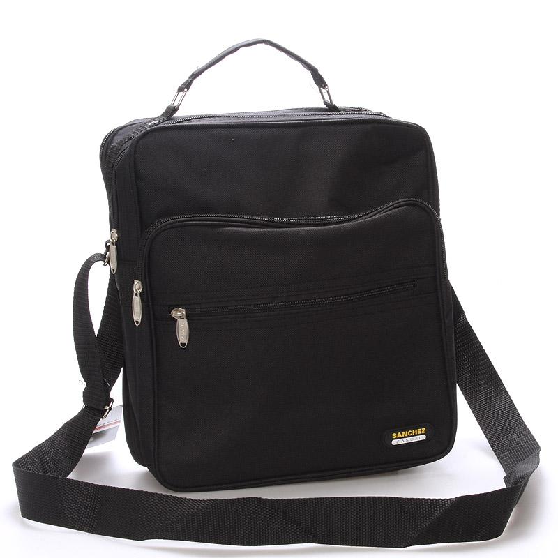 Pánska látková taška cez rameno čierna - Sanchez Nial čierna