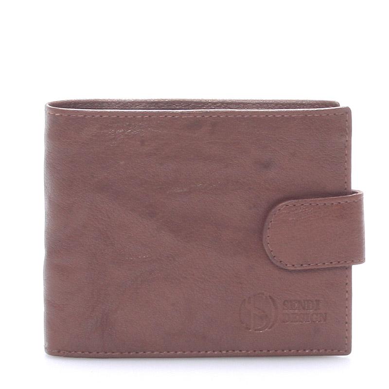 Praktická kožená hnedá peňaženka - SendiDesign 47 hnedá