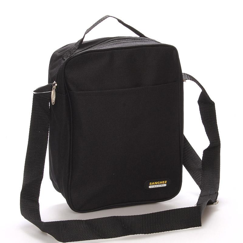 Čierna pánska taška na doklady - Sanchez Marcos čierna