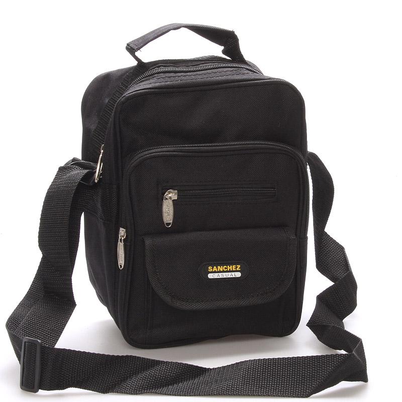 Pánska látková taška cez rameno čierna - Sanchez Thomas čierna