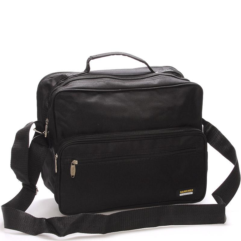 Pánska látková taška cez rameno čierna - Sanchez Giulio čierna