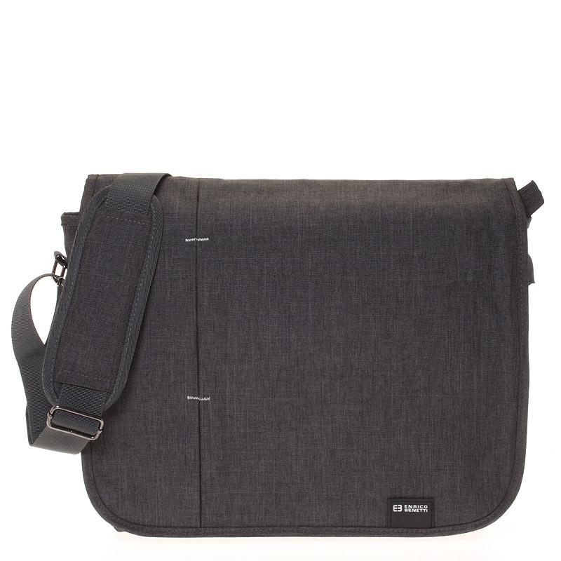 Kvalitná nylonová taška na notebook sivá - Enrico Benetti Jason šedá