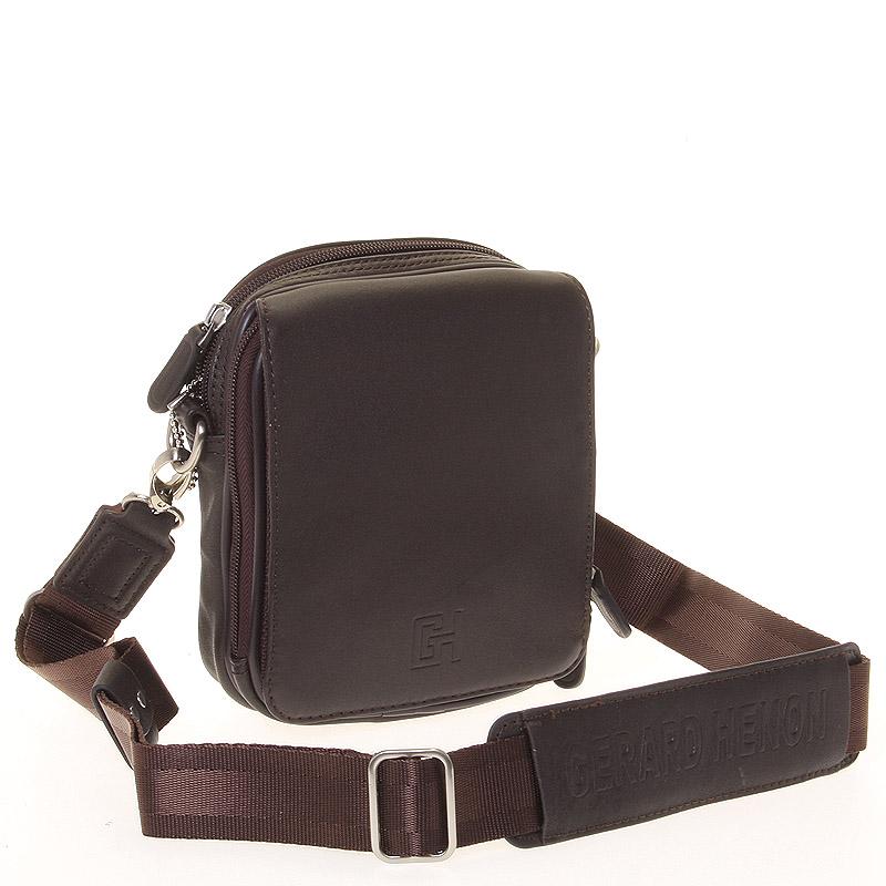 Pánska taška cez rameno na doklady hnedá - Gerard Henon Delrico hnedá