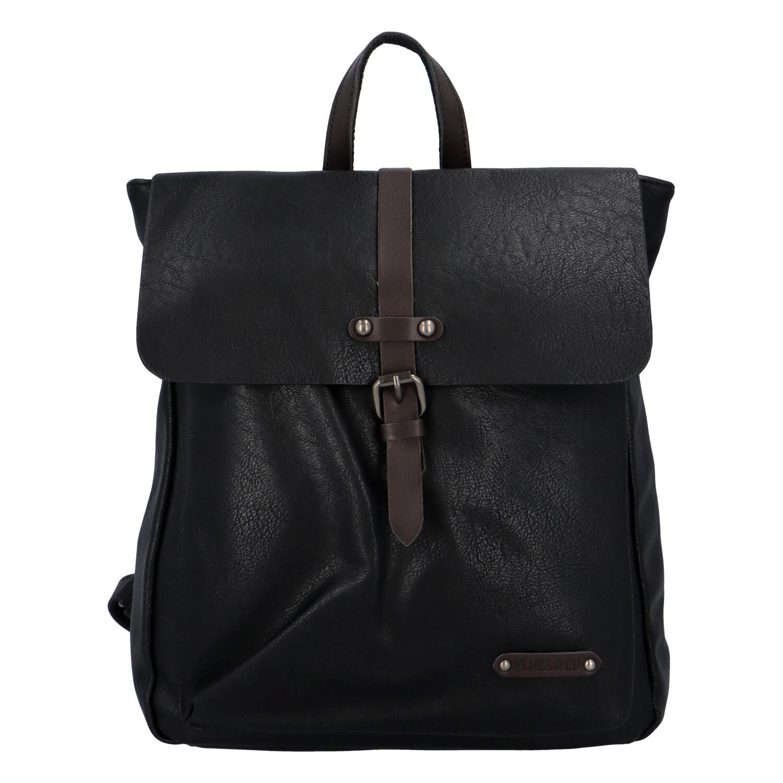 Dámsky módny mestský batoh čierny - FLORA&CO Zenovia čierna