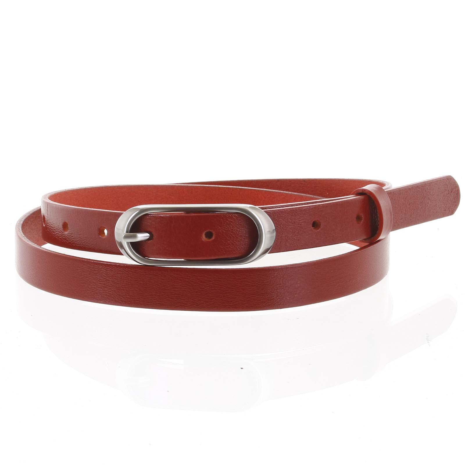 Dámsky kožený opasok červený - PB Cain 90 červená