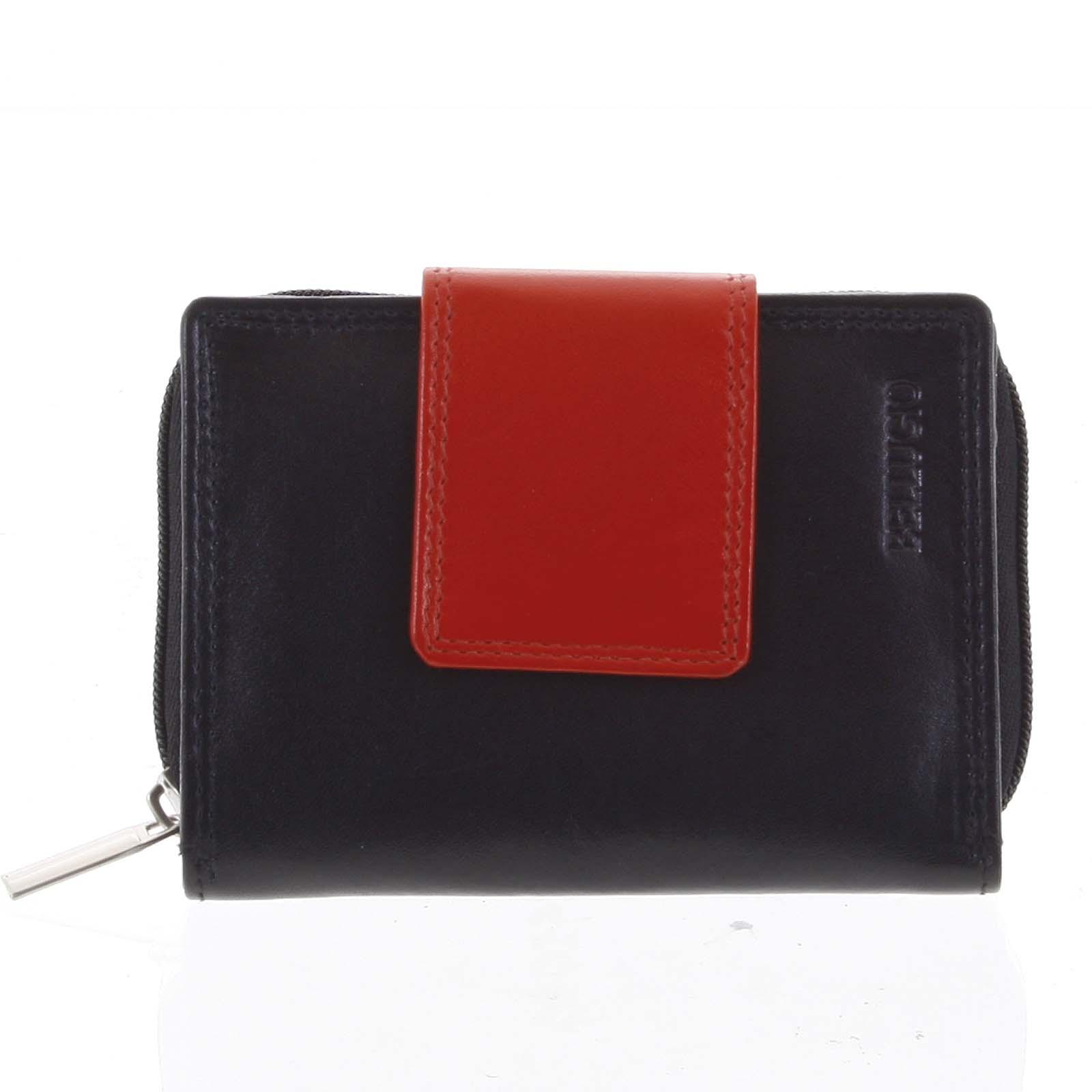 Dámska kožená peňaženka čierna - Bellugio Eliela čierna