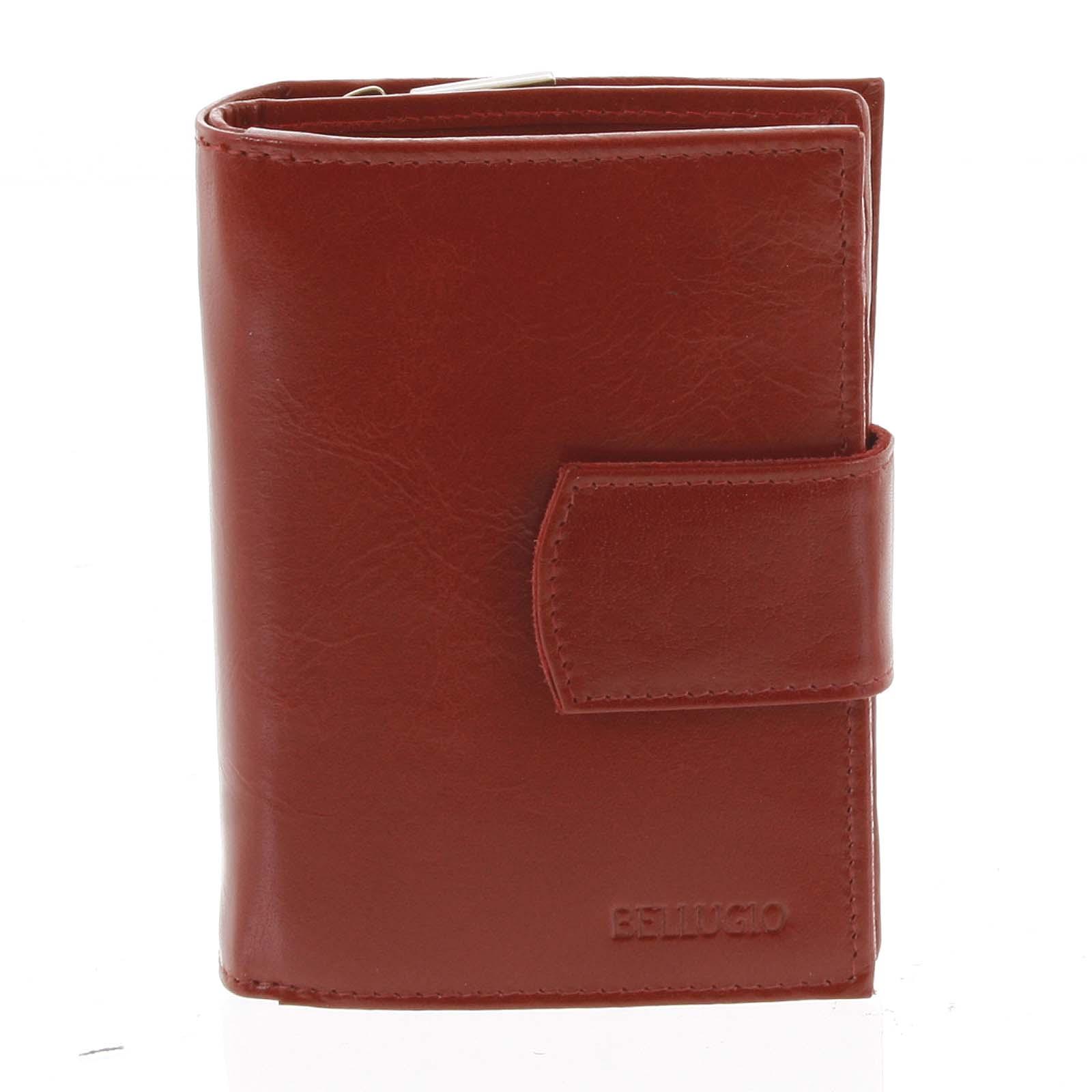 Dámska kožená peňaženka červená - Bellugio Agara červená
