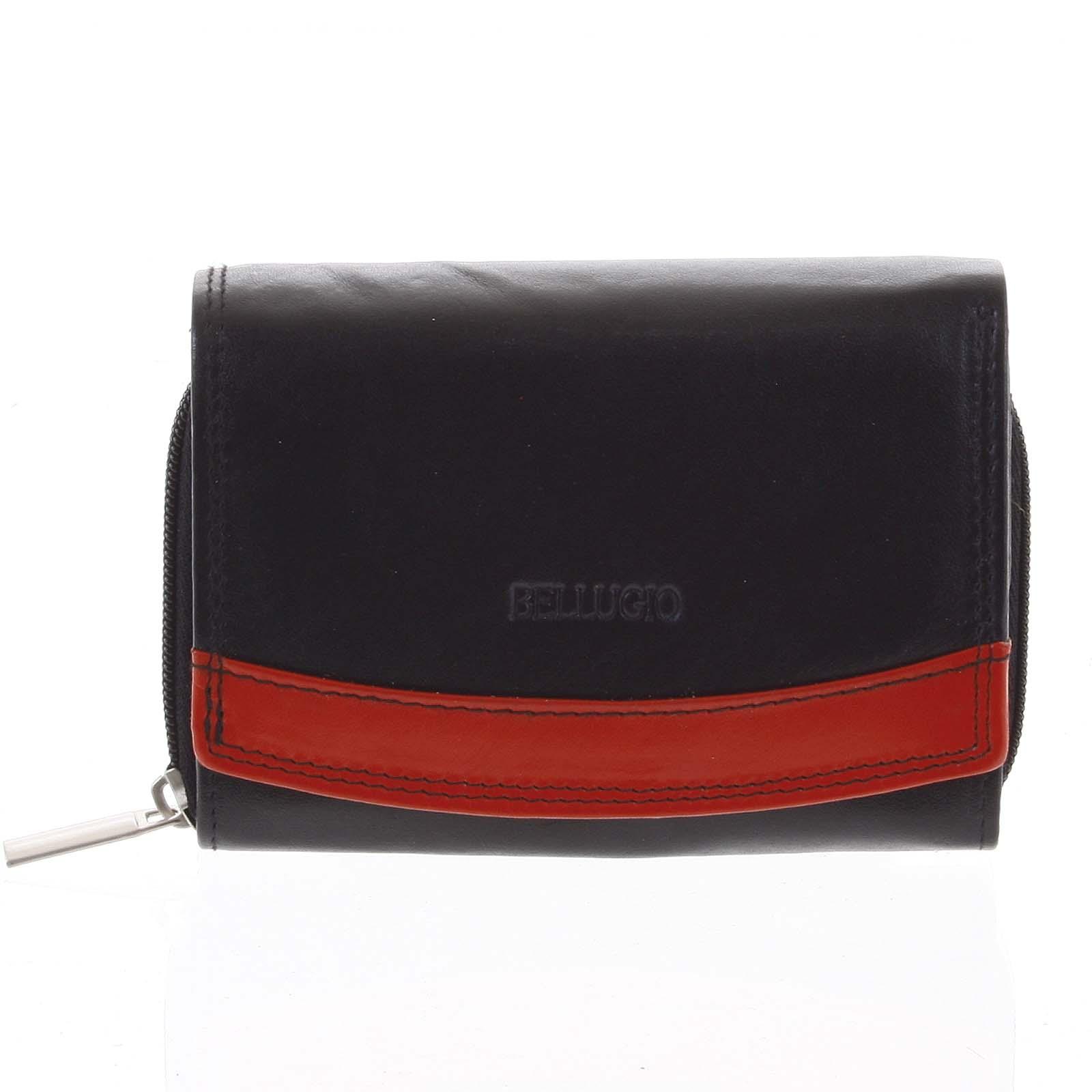 Dámska kožená peňaženka čierna - Bellugio Aleron čierna