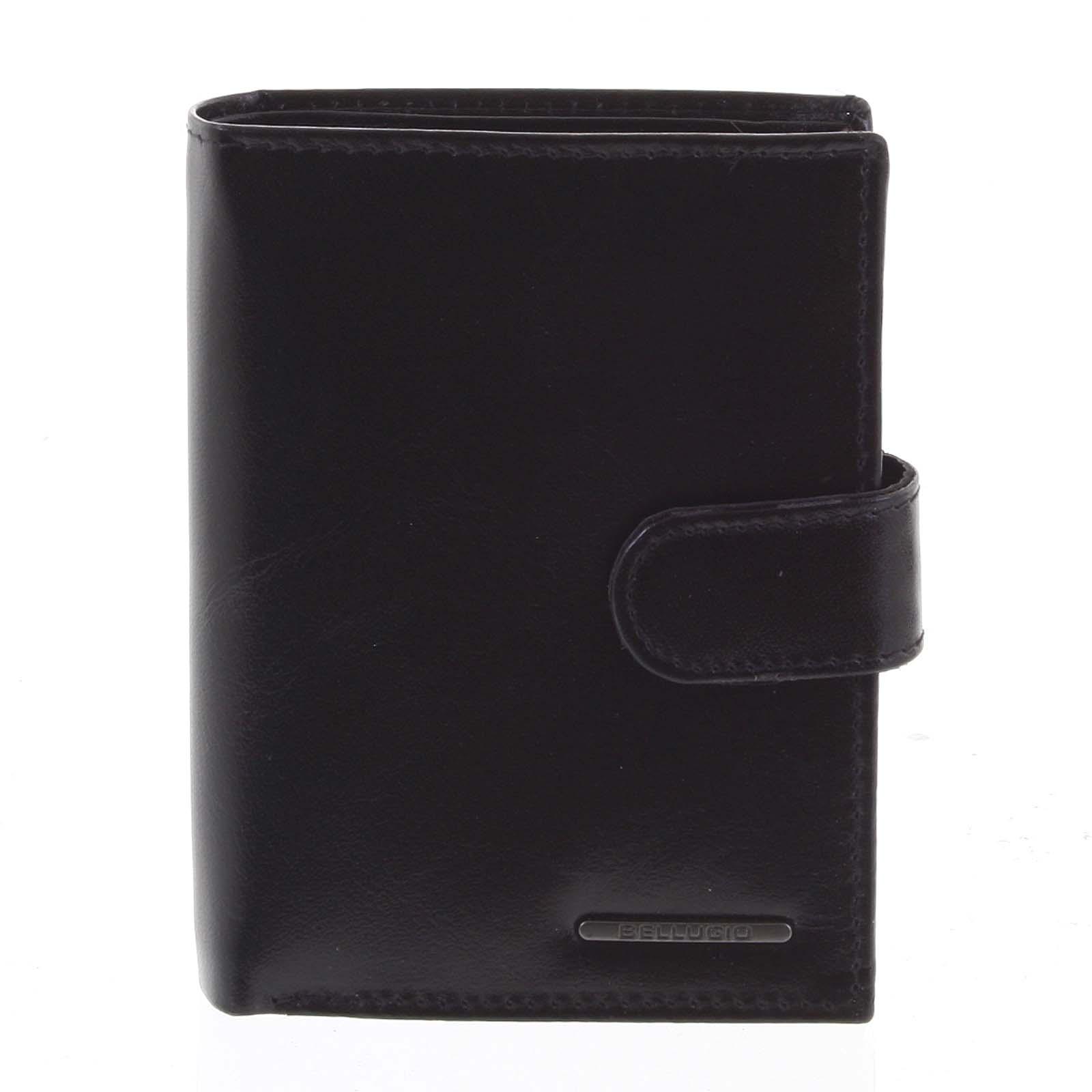 Pánska kožená peňaženka čierna - Bellugio Denis čierna