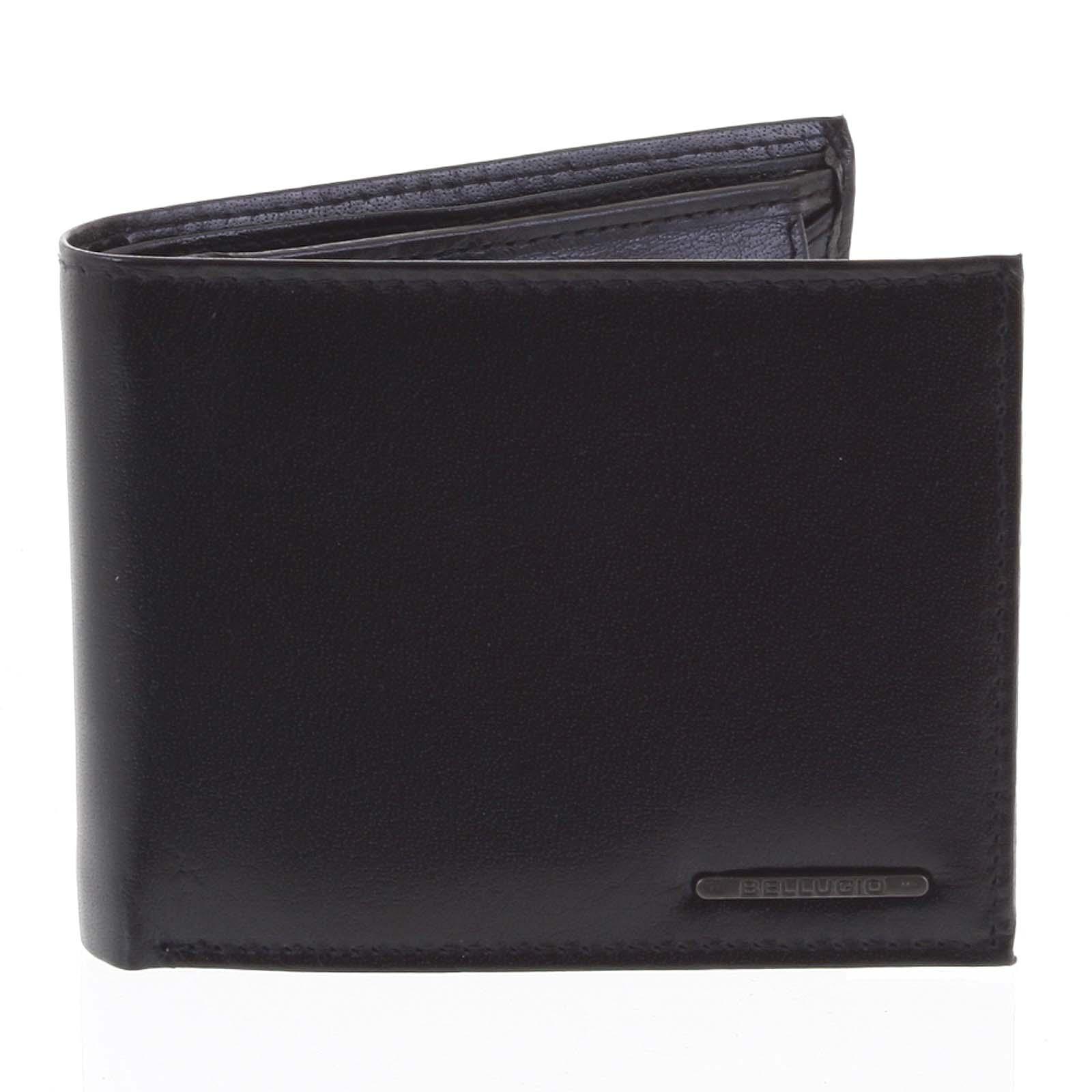Pánska kožená peňaženka čierna - Bellugio Etien čierna