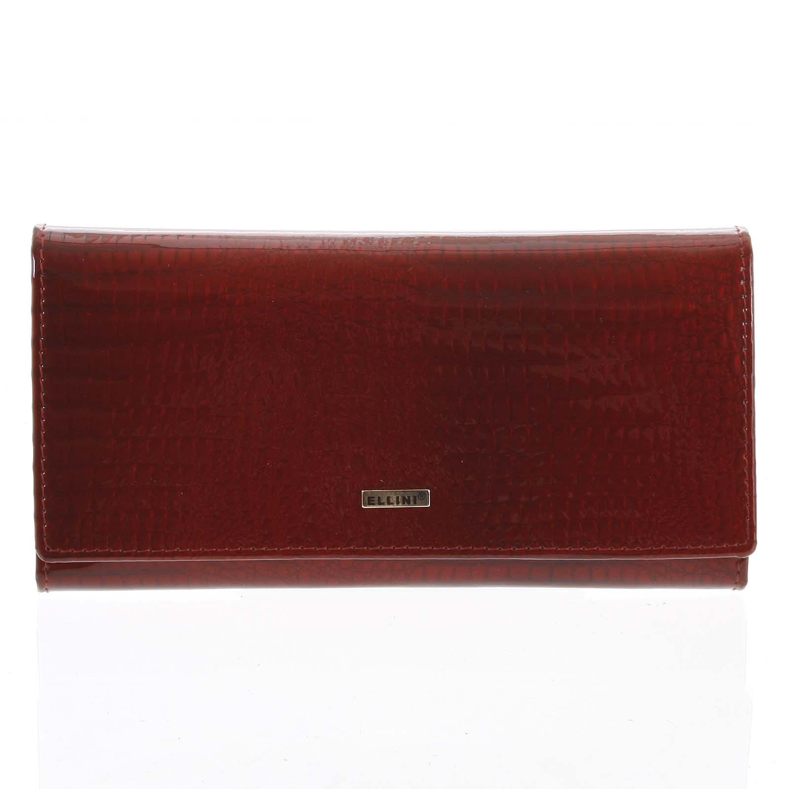 Dámska kožená peňaženka červená - Ellini Curcio červená