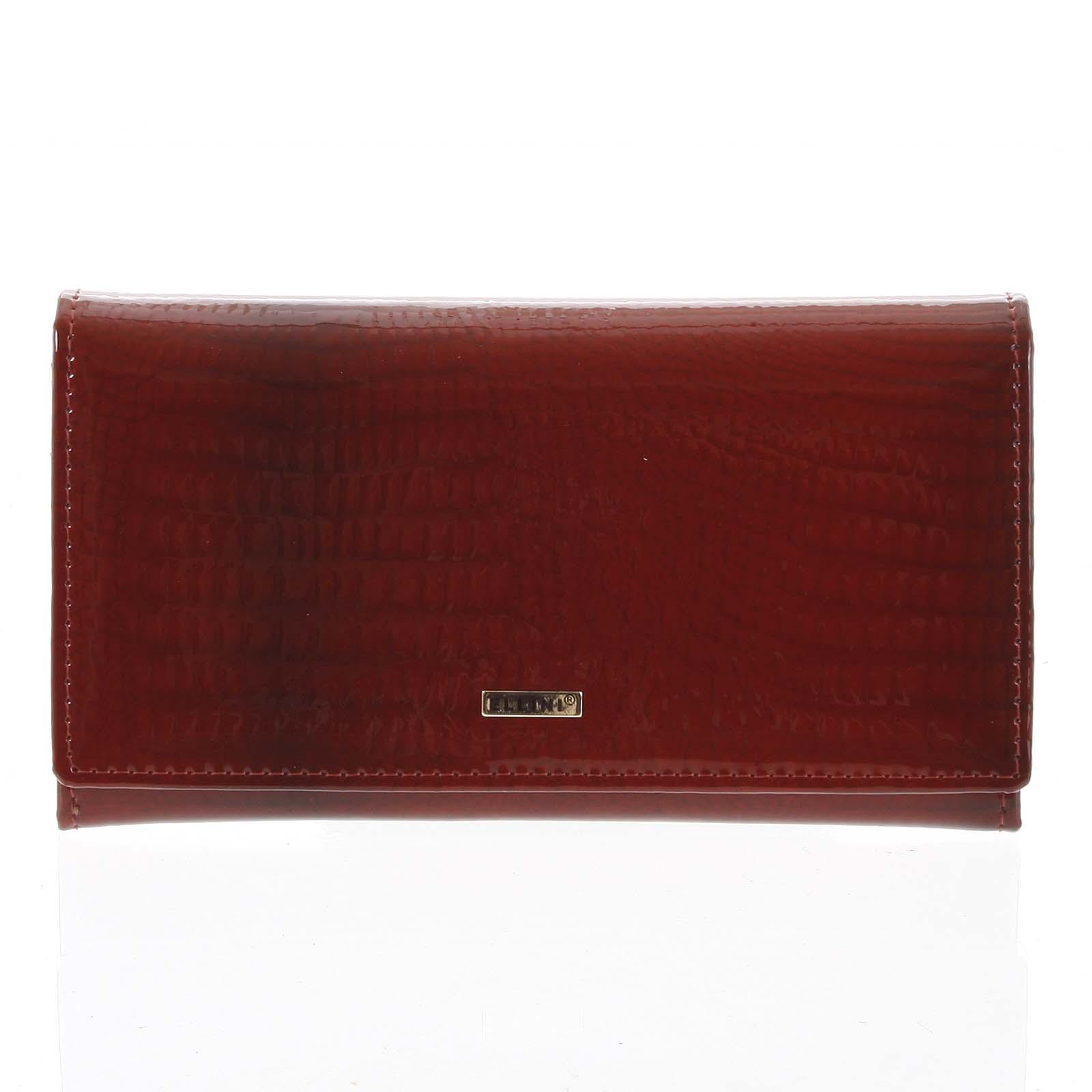 Dámska kožená peňaženka červená - Ellini Milia červená
