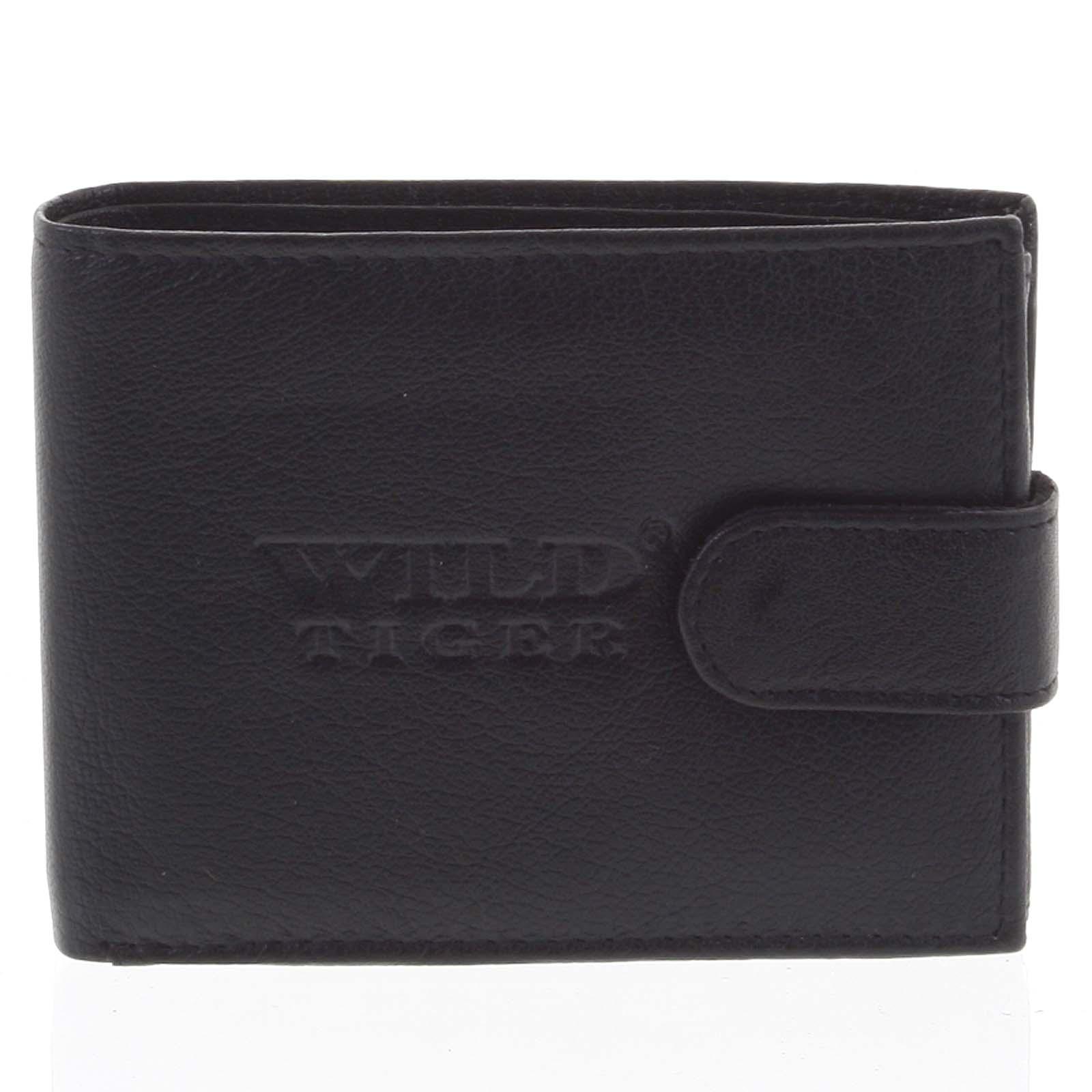 Pánska kožená peňaženka čierna - WILD Nomm čierna