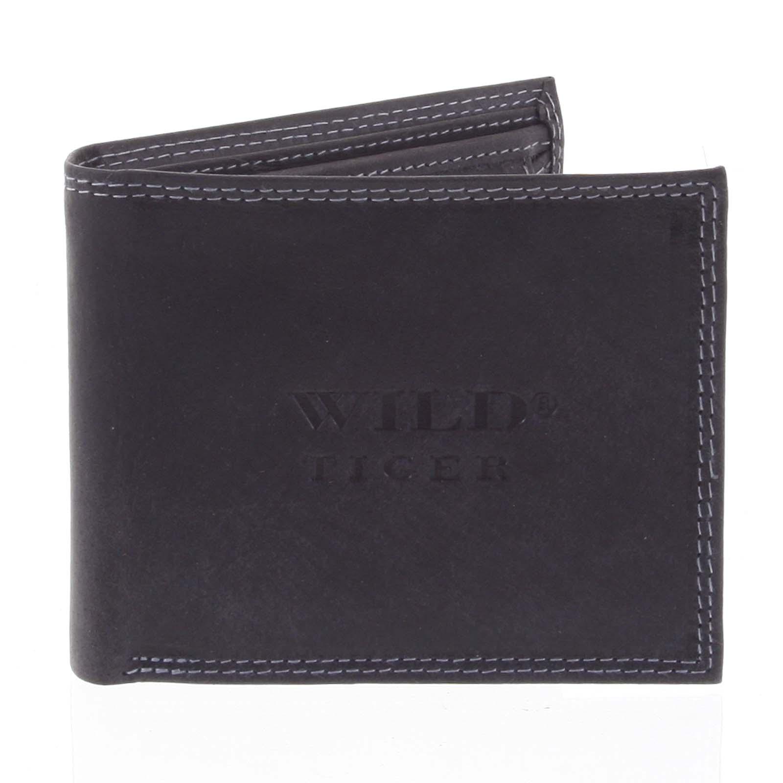 Pánska kožená peňaženka čierna - WILD Vladmir čierna