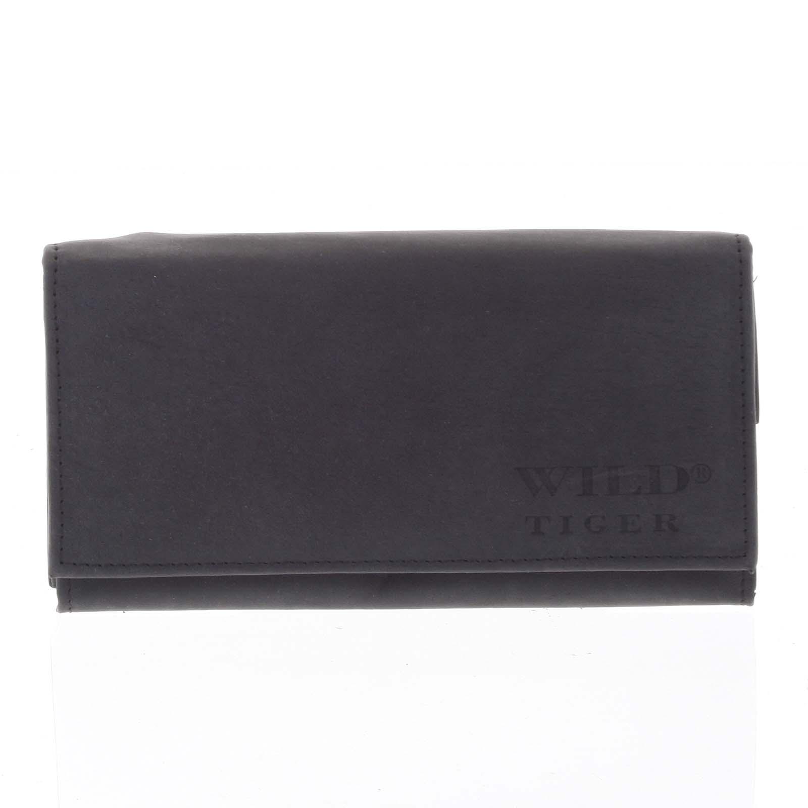 Dámska kožená peňaženka čierna - WILD Nataniela čierna