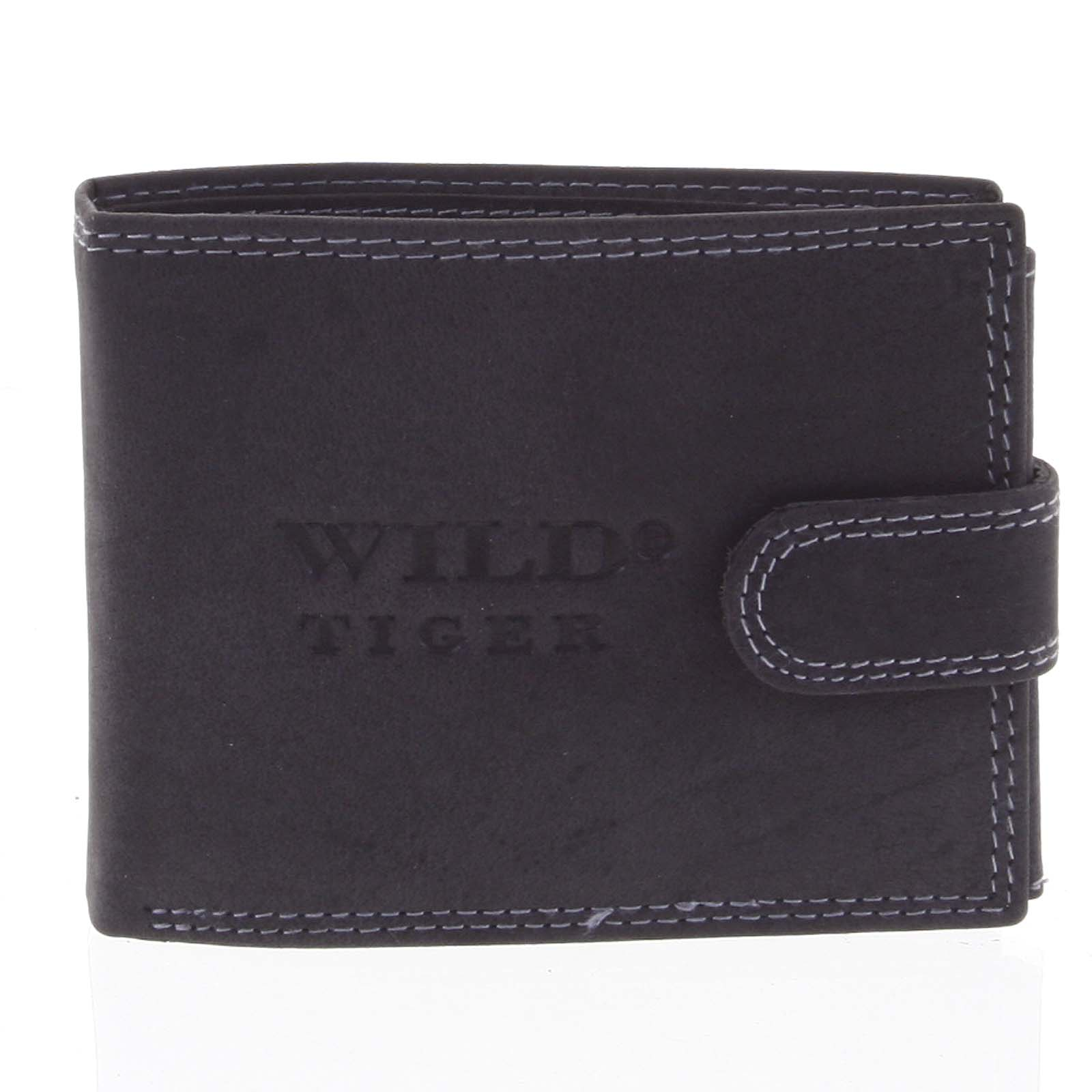 Pánska kožená peňaženka čierna - WILD 2800 čierna