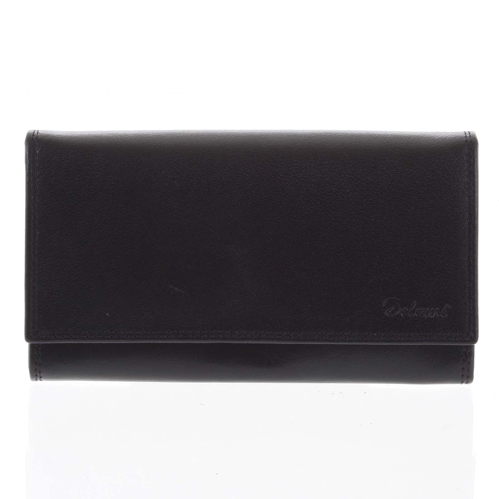 Dámska kožená peňaženka čierna - Delami Wandy čierna