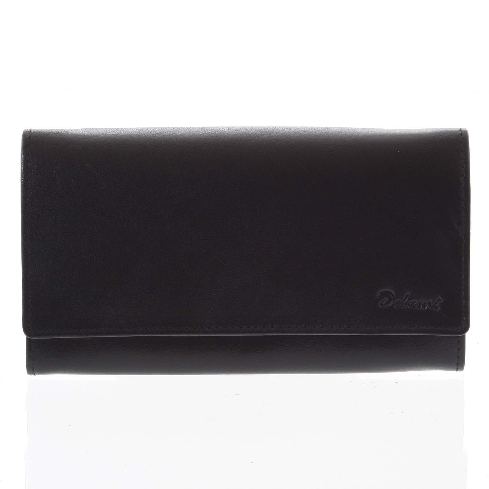 Dámska kožená peňaženka čierna - Delami Shelby čierna