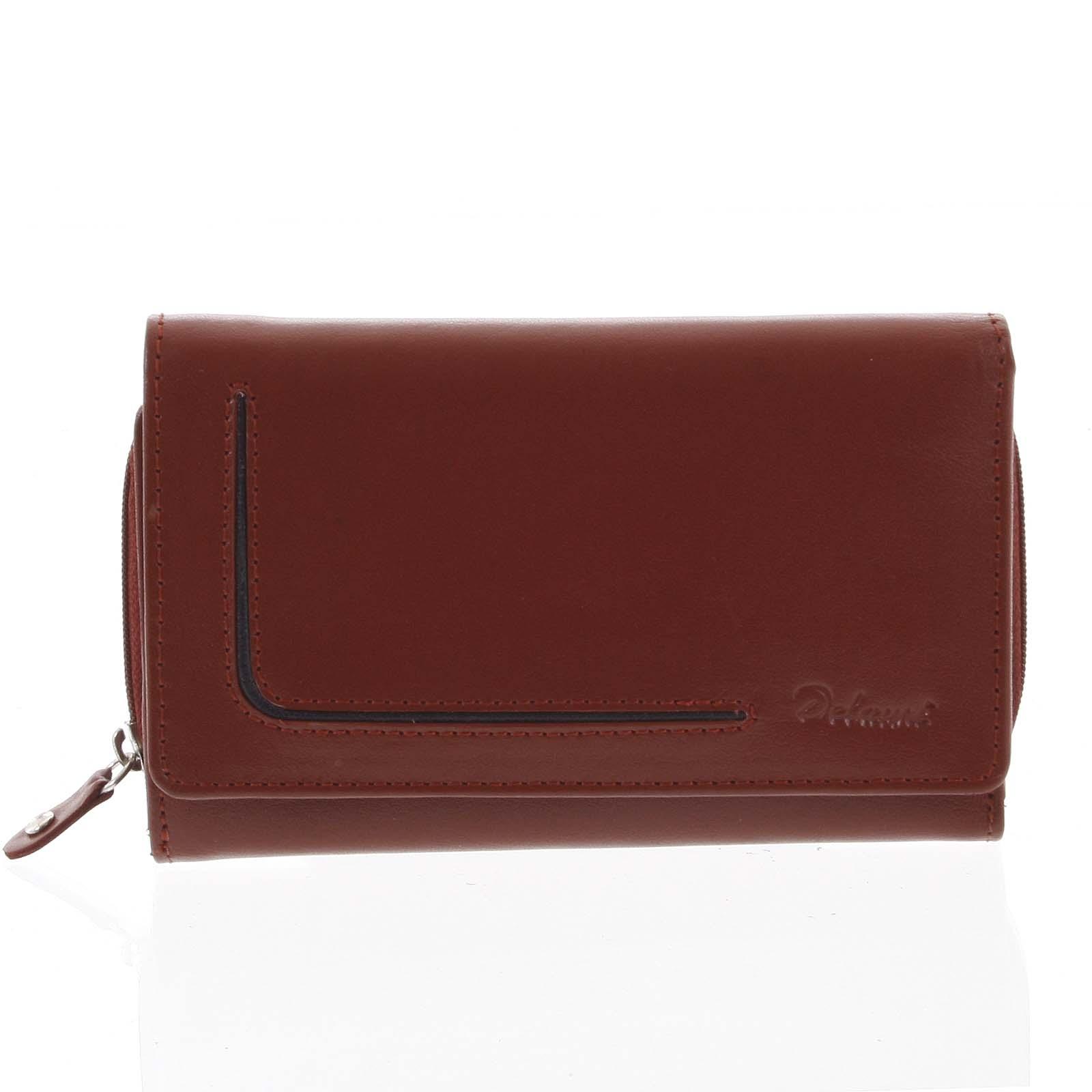 Dámska kožená peňaženka červená - Delami Nuria červená