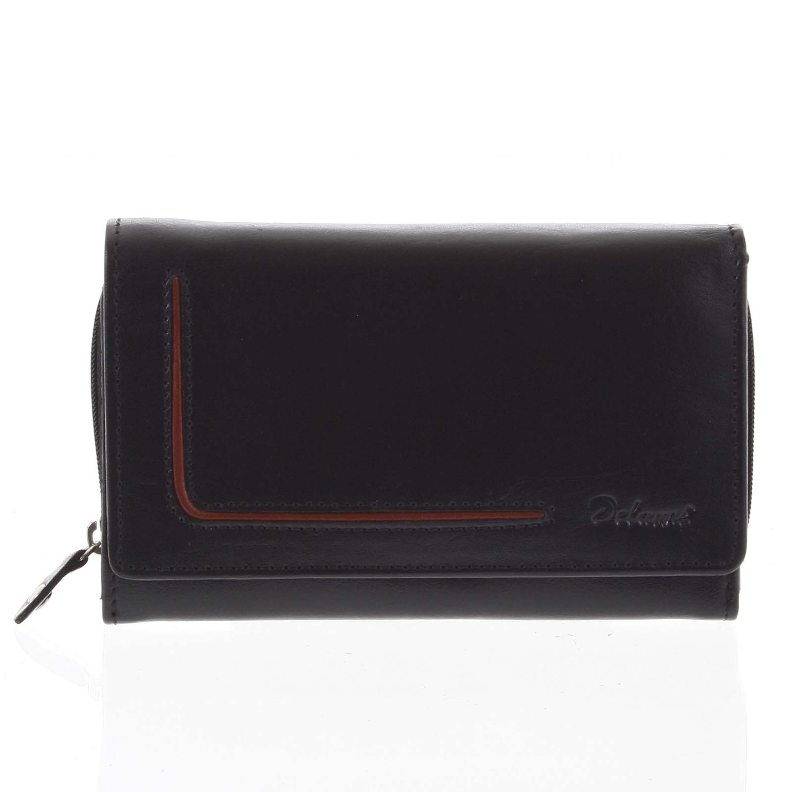 Dámska kožená peňaženka čierna - Delami Nuria čierna