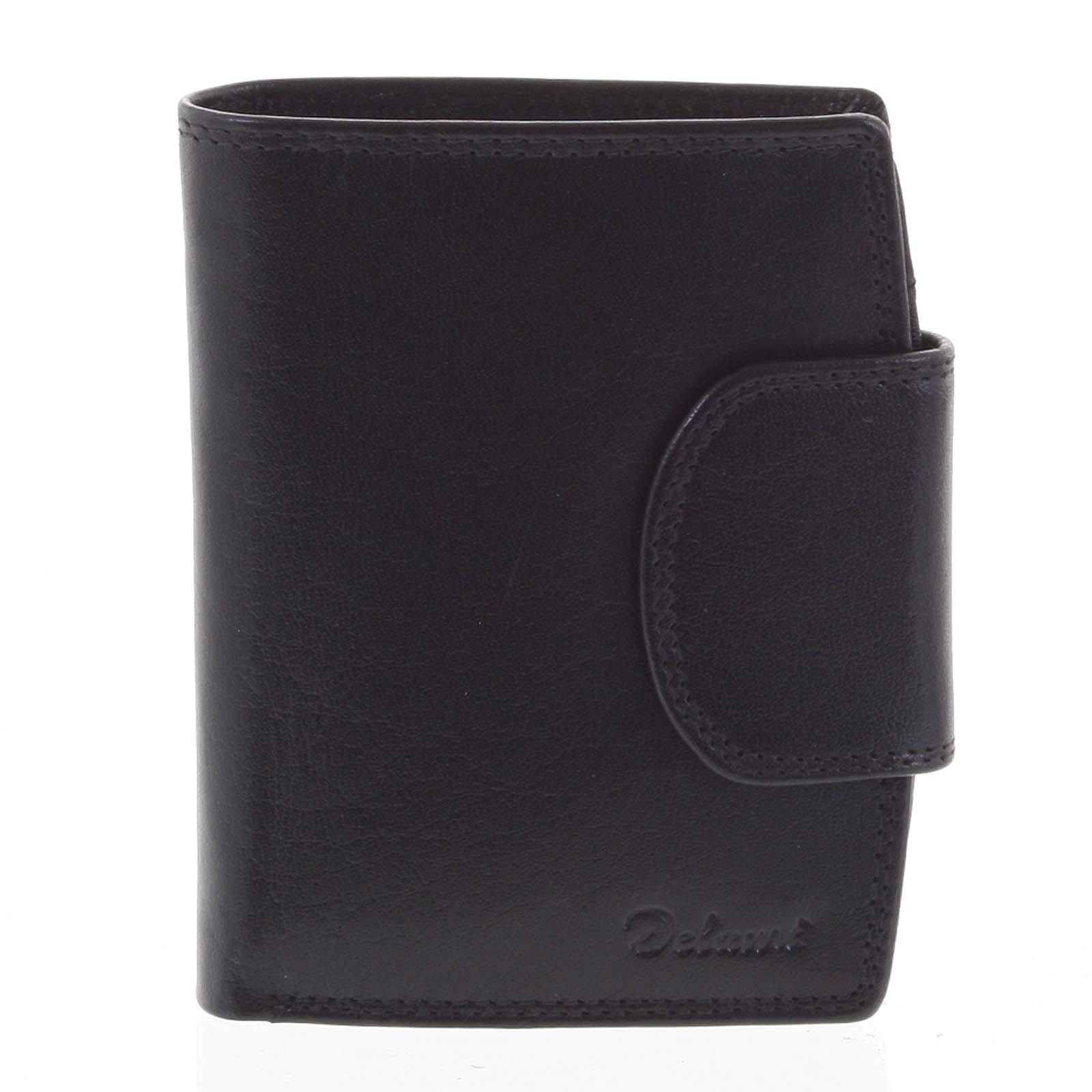 Kožená peňaženka čierna - Delami Chase čierna