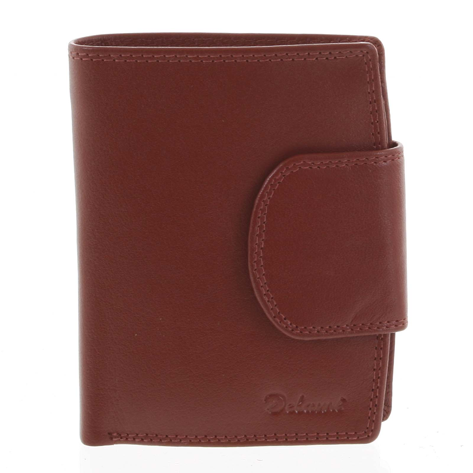 Kožená peňaženka červená - Delami Chase červená