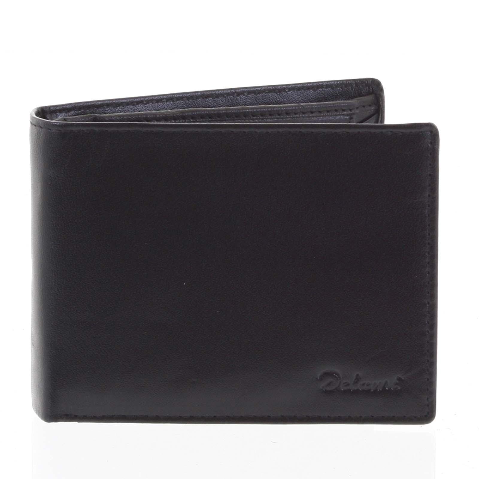 Pánska kožená peňaženka čierna - Delami Francisco čierna