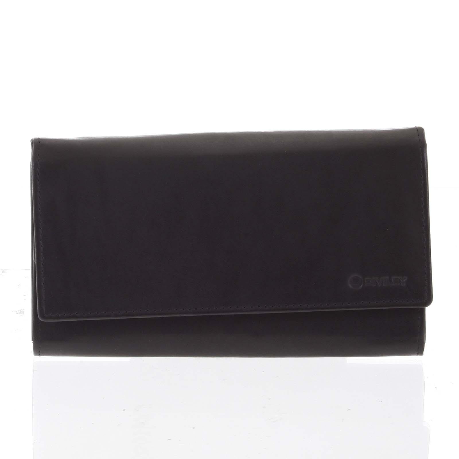Dámska klasická čierna kožená peňaženka - Diviley Uniberso čierna