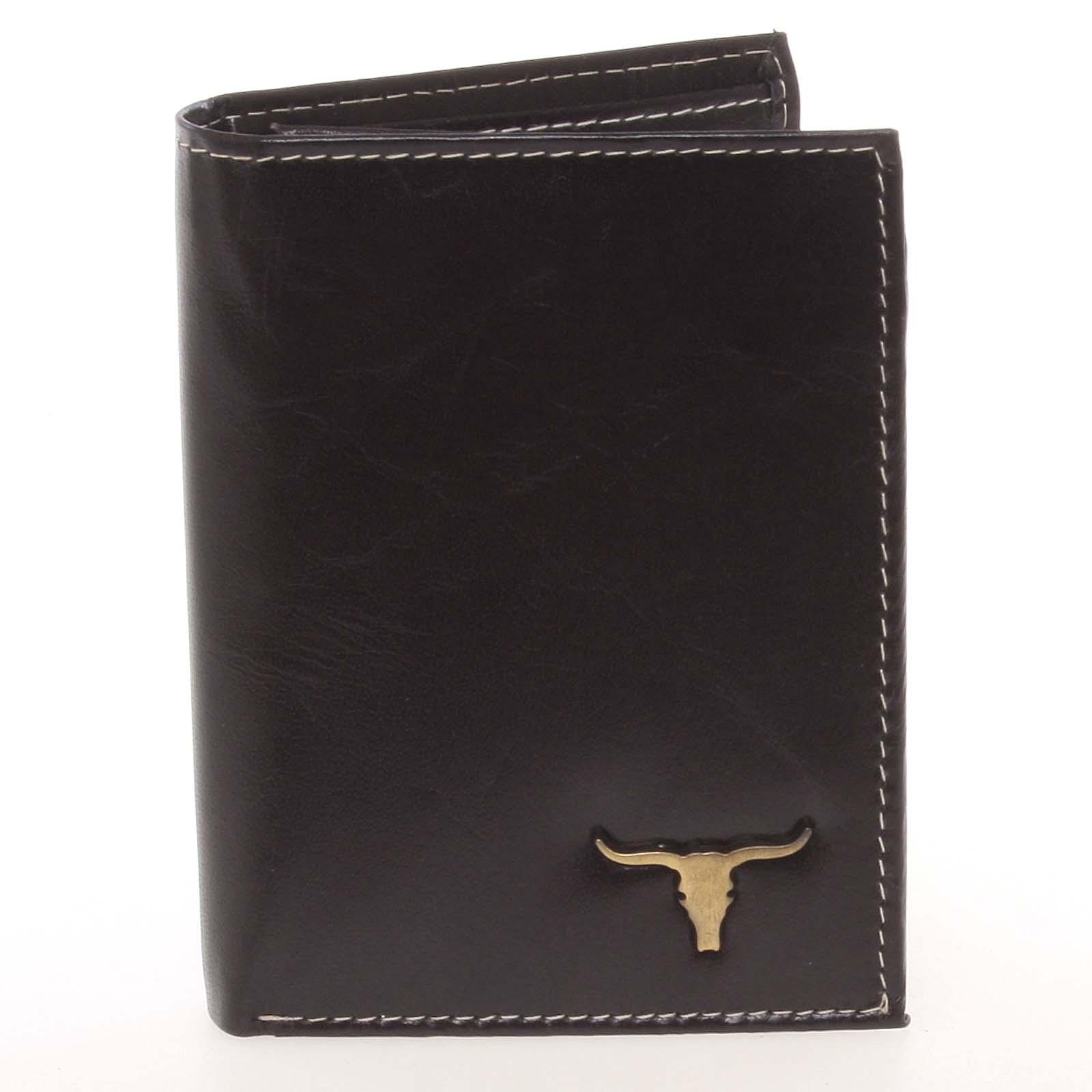 Elegantná pánska čierna kožená peňaženka - BUFFALO Dilan čierna