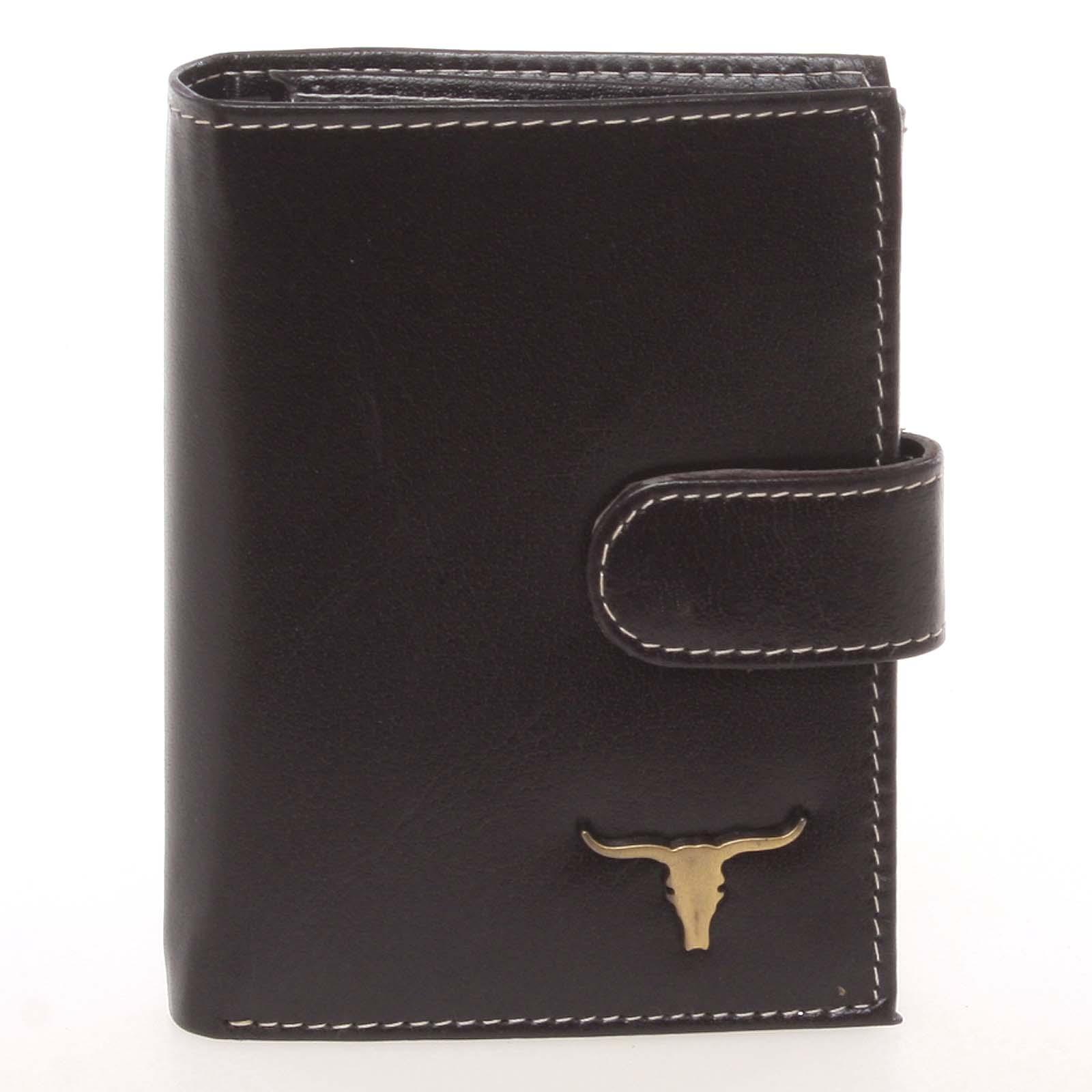 Kvalitná pánska čierna kožená peňaženka - BUFFALO Mantel čierna