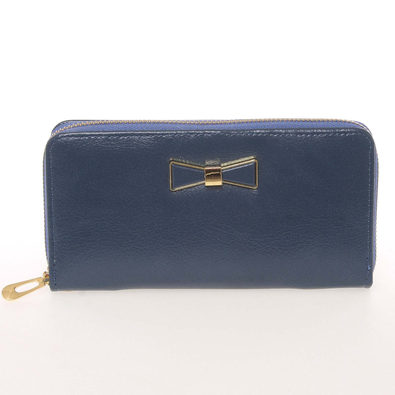 Moderná dámska peňaženka s pútkom modrá - Milano Design SF1821 modrá
