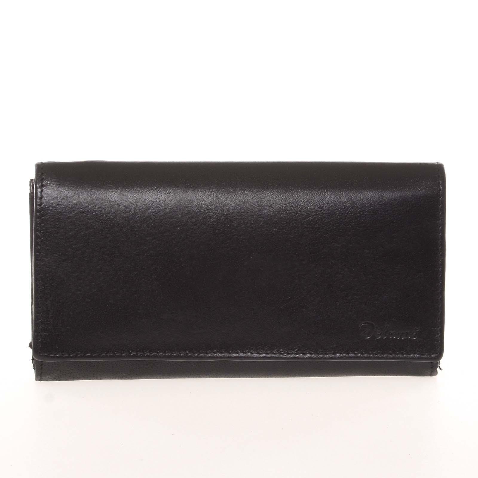 Dámska kožená čierna peňaženka - Delami CHAGL04104 čierna