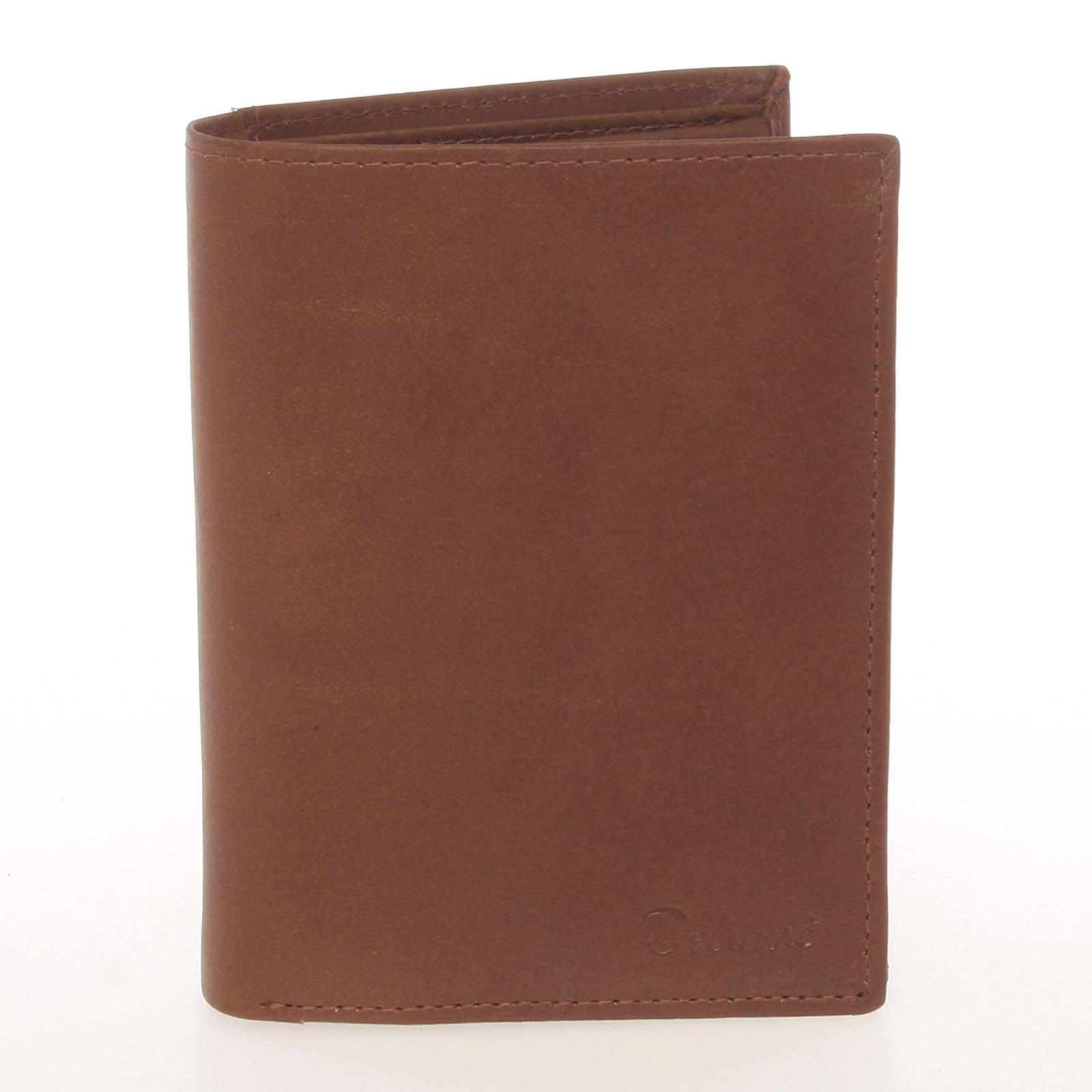 Módna pánska kožená koňaková peňaženka - Delami Marquis koňak