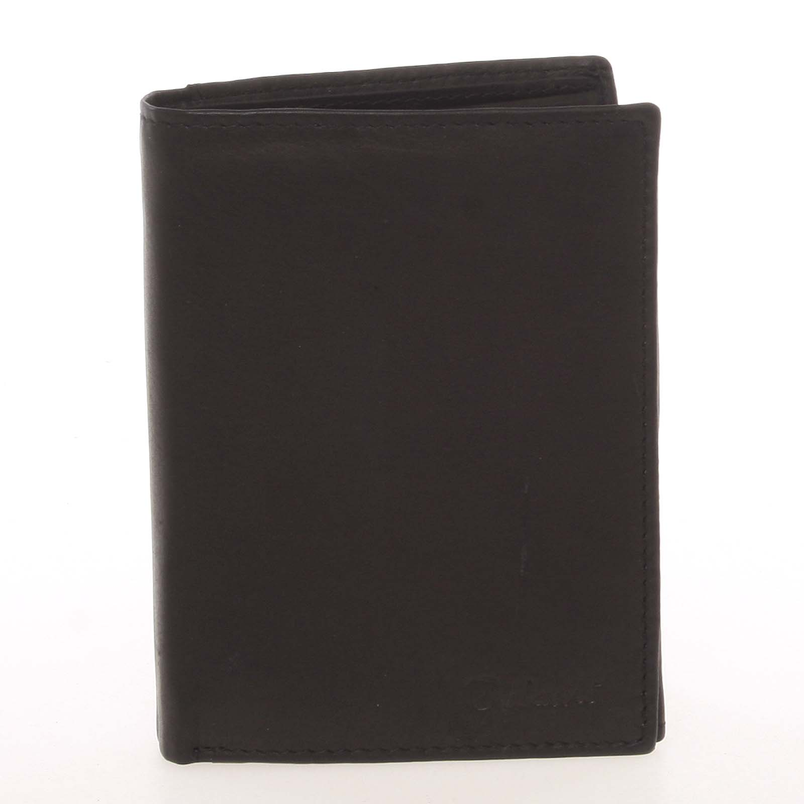 Pánska kožená čierna peňaženka - Delami Therron čierna
