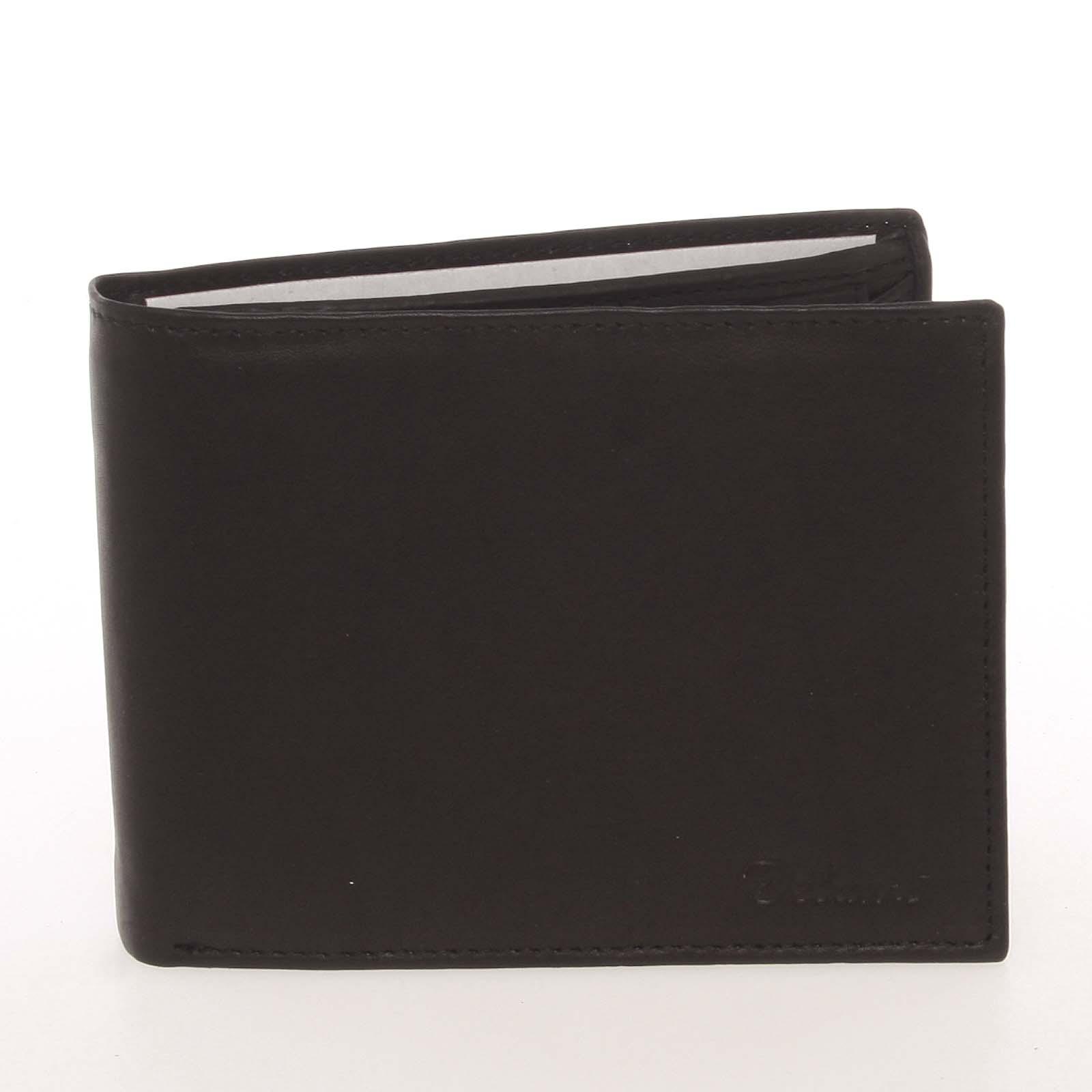 Kvalitná pánska kožená čierna peňaženka - Delami Archard čierna