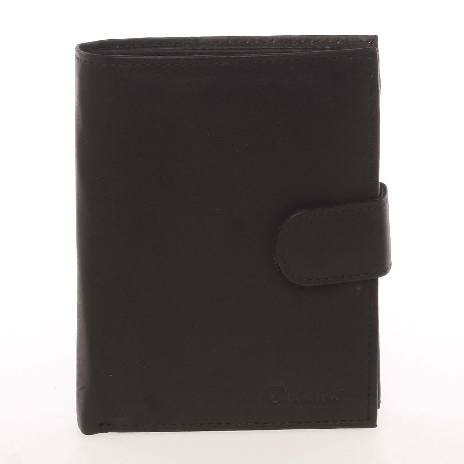 Módna pánska kožená čierna peňaženka - Delami Chappel čierna