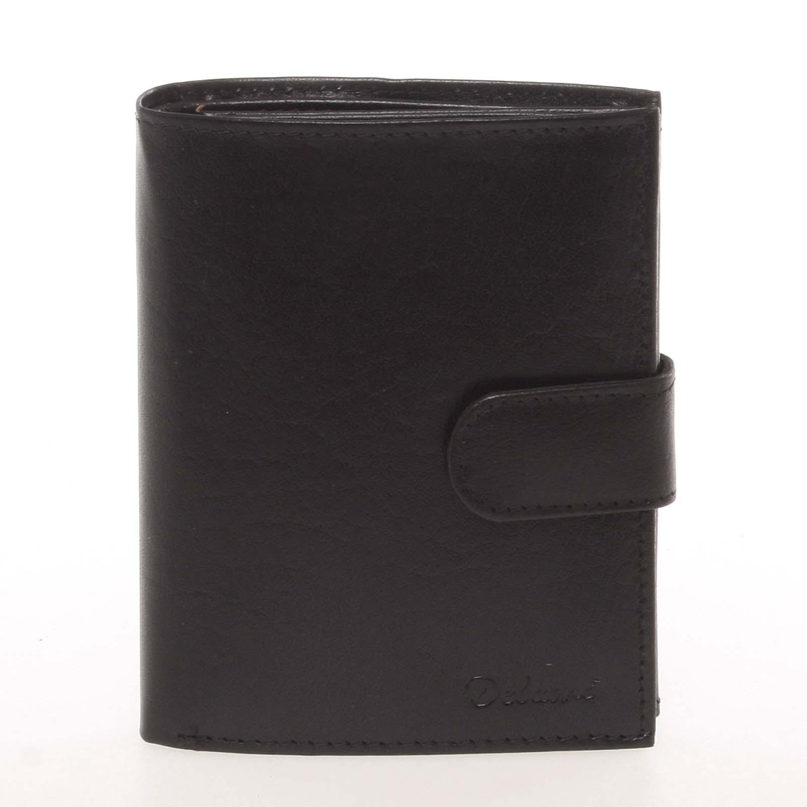 Kožená čierna peňaženka pre mužov - Delami Arnaud čierna