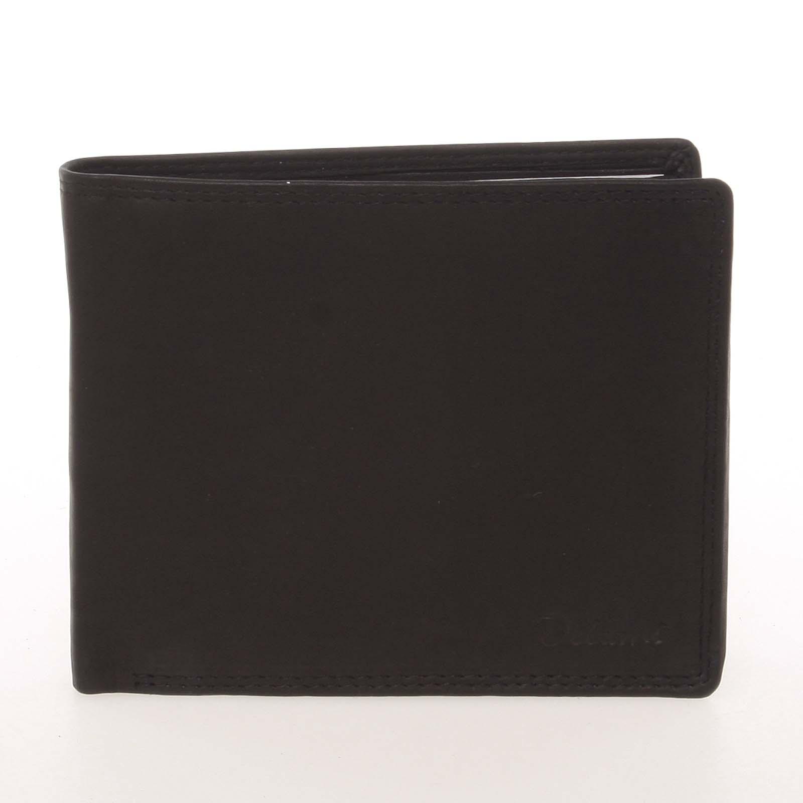 Elegantná pánska kožená čierna peňaženka - Delami Kerman čierna