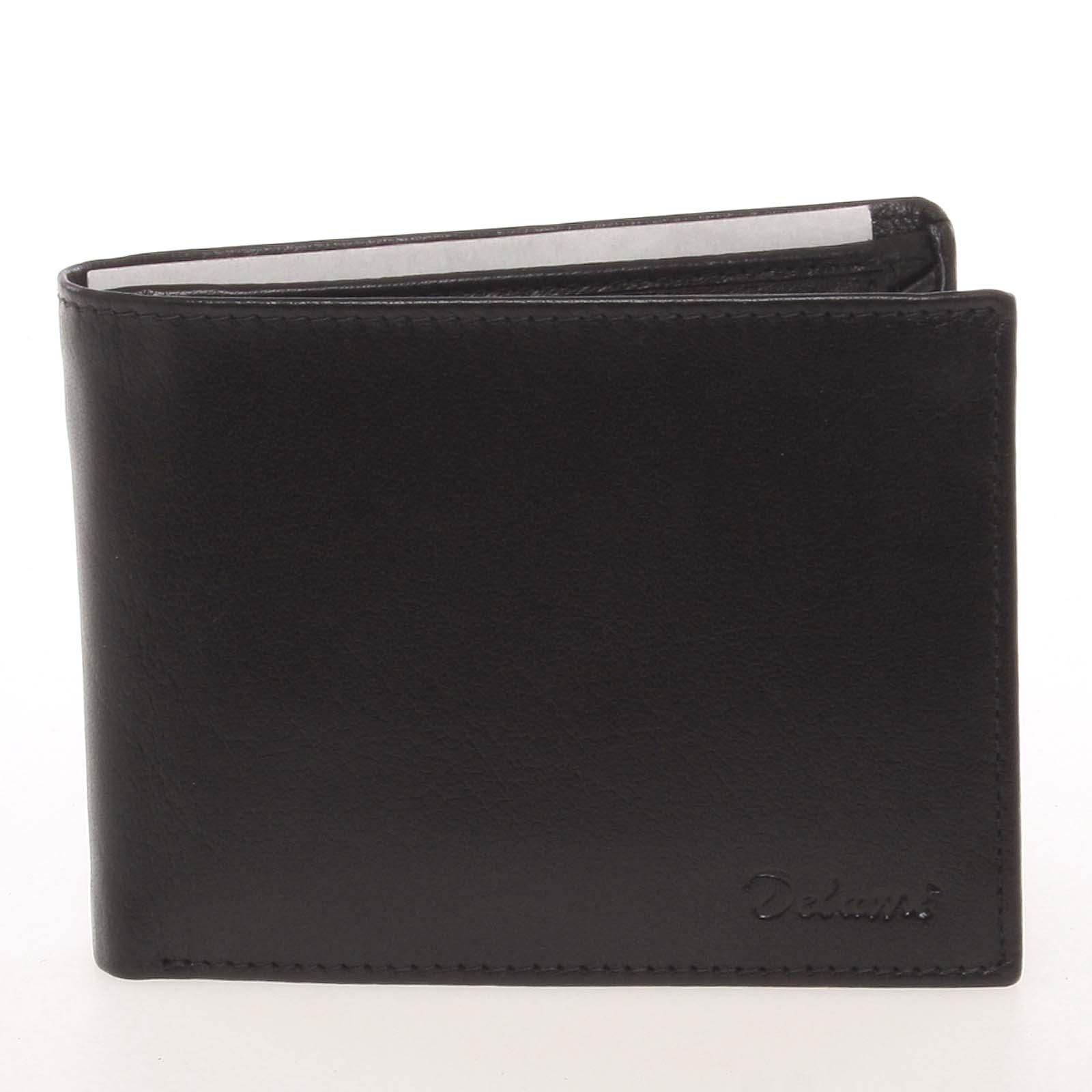 Pánska kožená čierna peňaženka - Delami Colbey čierna
