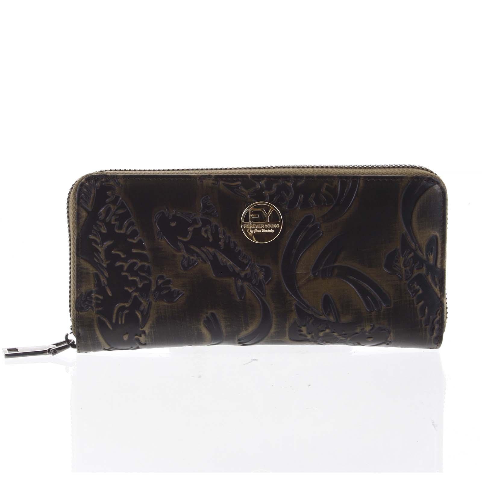 Luxusná dámska peňaženka púzdro medené - Rovicky 77006 zelená