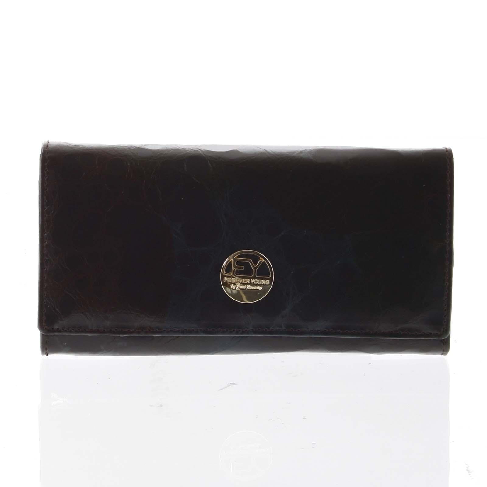 Elegantná dámska kožená peňaženka čierna - Rovicky 64003 čierna