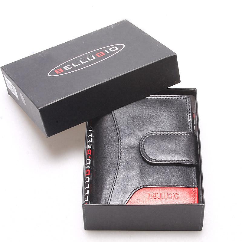 Väčšia kožená peňaženka dámska čierna - Bellugio Cadis čierna