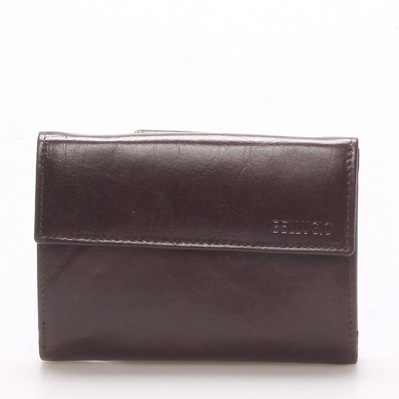 Dámska kožená peňaženka čokoládovo hnedá - BELLUGIO Bonnie hnedá