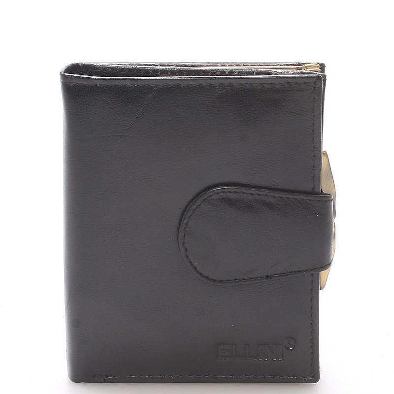 Dámska štýlová kožená peňaženka čierna - Ellina Dahlia čierna